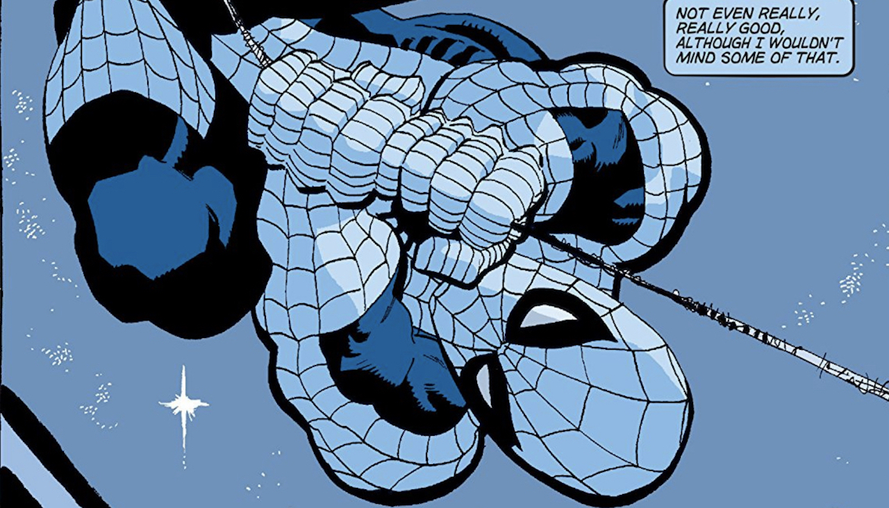 homem aranha azul marvel