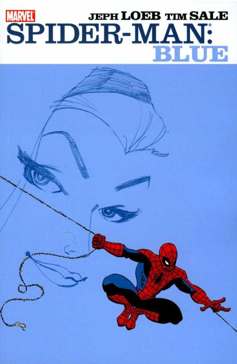 homem aranha azul quadrinhos marvel