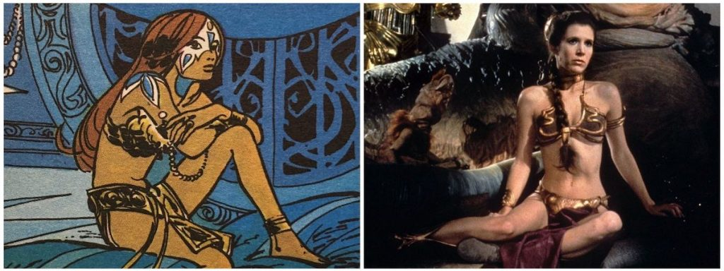 Valerian Laureline escrava princesa leia star wars
