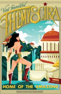 Dia da Mulher Maravilha Poster Comemorativo